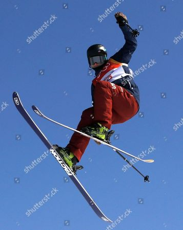 Devin Logan of the US in action during the Women's Freestyle Skiing Ski Slopestyle final at the Bokwang Phoenix Park during the PyeongChang 2018 Olympic Games, South Korea, 17 February 2018.