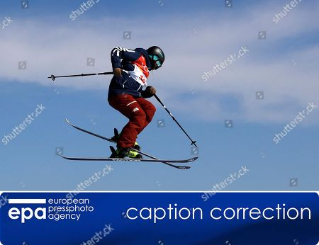 (CORRECTION) ? This is to amend images epa06534870, epa06534869, epa06534872, epa06534866 and epa06534868 issued on 17 February 2018, correcting ID of the skier to Devin Logan (not: Sarah Hofflin). The revised caption reads:  Devin Logan of the US in action during the Women's Freestyle Skiing Ski Slopestyle final at the Bokwang Phoenix Park during the PyeongChang 2018 Olympic Games, South Korea, 17 February 2018.