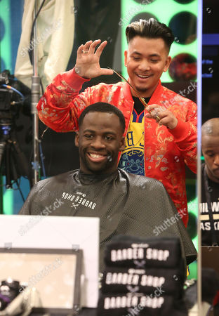 Draymond Green, Jayr Mallari. Draymond Green, left, and Jayr Mallari attend the Xbox Barber Shop at One Court, presented by the National Basketball Players Association, in West Hollywood, Calif