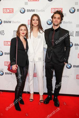 Emma Drogunova, Luise Befort and Maximilian Befort