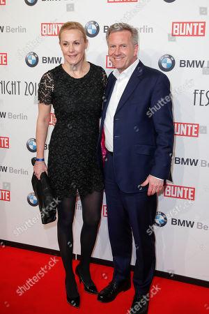 Stock Photo of Bettina Wulff and Christian Wulff