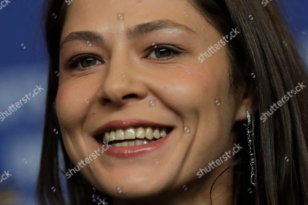 Actress Elena Lyadova attends a news conference on the film Dovlatov during the 68th edition of the International Film Festival Berlin, Berlinale, in Berlin, Germany