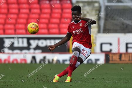 Matthew Taylor (32) of Swindon Town during the EFL Sky Bet League 2 match between Swindon Town and Port Vale at the County Ground, Swindon. Picture by Graham Hunt
