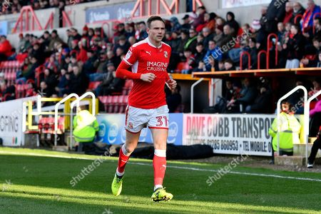 Matthew Taylor (31) of Swindon Town during the EFL Sky Bet League 2 match between Swindon Town and Port Vale at the County Ground, Swindon. Picture by Graham Hunt