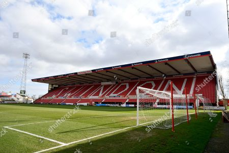 The Don Rogers Stand before the EFL Sky Bet League 2 match between Swindon Town and Port Vale at the County Ground, Swindon. Picture by Graham Hunt