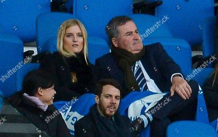 Stock Photo of Richard Keys watches the match