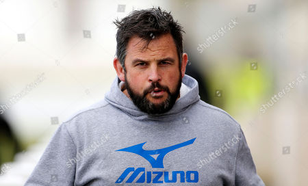 Director of Darlington Mowden Park, Danny brown during the National Division 1 match between Plymouth Albion v Darlington Mowden Park at the Brickfields Recreation Ground, on February 17th 2018, Plymouth, Devon, UK.