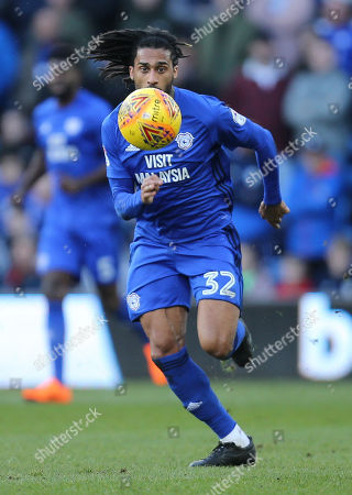 Armand Traore of Cardiff City looks to win possession