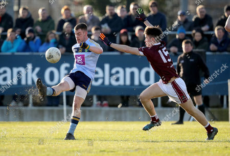 UCD vs NUIG. UCD's Eoin Lowry with Sean Kelly of NUIG