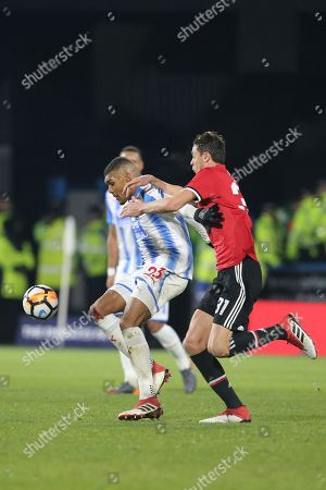 Huddersfield's Collin Quaner during the The FA Cup match between Huddersfield Town and Manchester United at the John Smiths Stadium, Huddersfield. Picture by George Franks