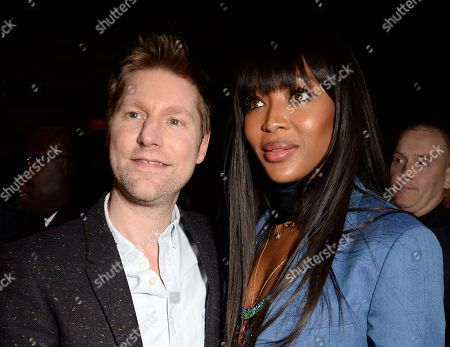 Christopher Bailey and Naomi Campbell