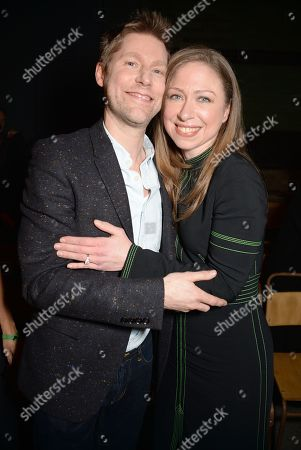 Christopher Bailey and Chelsea Clinton