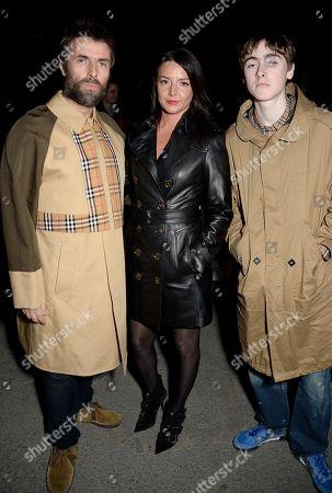 Liam Gallagher, Debbie Gwyther and Gene Gallagher