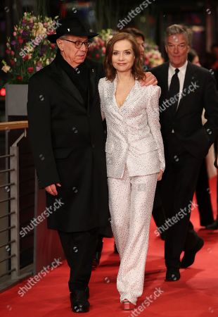 Actress Isabelle Huppert (C) walks with the director of the Berlin International Film Festival, Dieter Kosslick (L) next to the director Benoit Jacquot (R) at the premiere of 'Eva' during the 68th annual Berlin International Film Festival (Berlinale), in Berlin, Germany, 17 February 2018. The Berlinale runs from 15 to 25 February.