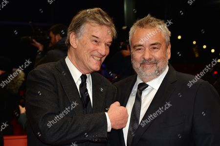 Directors Luc Besson (R) and Benoit Jacquot arrive for the premiere of 'Eva' during the 68th annual Berlin International Film Festival (Berlinale), in Berlin, Germany, 17 February 2018. The Berlinale runs from 15 to 25 February.