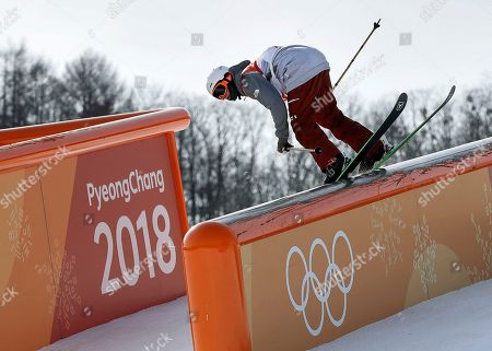 Editorial photo of Olympics Freestyle Skiing Men, Pyeongchang, South Korea - 18 Feb 2018