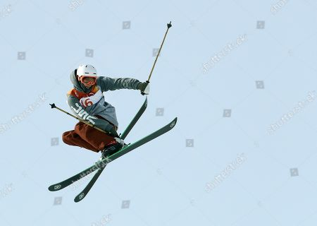 Alex Hall, of the United States, jumps during the men's slopestyle qualifying at Phoenix Snow Park at the 2018 Winter Olympics in Pyeongchang, South Korea