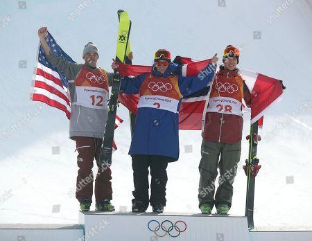 Nick Goepper, Oystein Braaten and Alex Beaulieu-Marchand