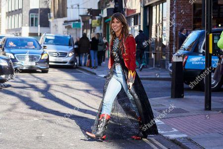 Editorial photo of Street Style, Fall Winter 2018, London Fashion Week, UK - 17 Feb 2018