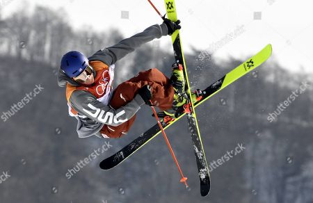 Nick Goepper of USA airborn during Men's Ski Slopestyle at Phoenix Snow Park in Pyeongchang