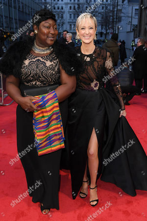 Stock Image of Andrea Riseborough and Time's Up activist Phyll Opoku-Gyimah