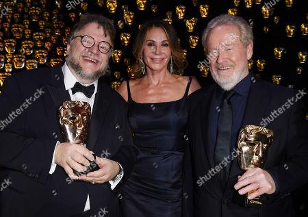 Guillermo Del Toro, Giannina Facio and Ridley Scott