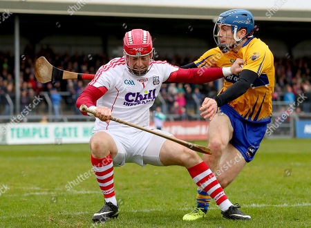 Stock Image of Clare vs Cork. Cork's goalkeeper Anthony Nash and Shane O?Donnell of Clare