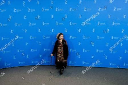 Actress Hanna Schygulla poses at a photo-call for the film 'The Prayer' during the 68th edition of the International Film Festival Berlin, Berlinale, in Berlin, Germany