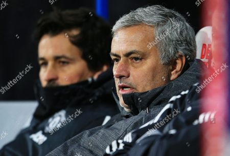 Manchester United manager Jose Mourinho and assistant coach Rui Faria