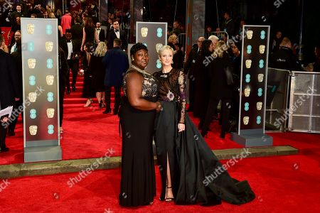 Andrea Riseborough and Time's Up activist Phyll Opoku-Gyimah