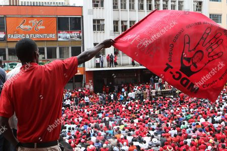Thousands of the Movement For Democratic Change (MDC T) supporters gathered at the party headquarters in Harare, Zimbabwe, 18 February 2018 as they mourn the party leader Morgan Tsvangirai who died in South Africa on 14 February 2018 from colon cancer. The former Prime Minister will be buried in his rural home in Buhera, 270 km east of Harare on 20 February 2018.