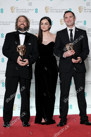Jonathan Amos and Paul Machliss ?Baby Driver? wins Best Editing presented by Hayley Squires