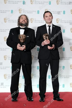 Stock Photo of Jonathan Amos and Paul Machliss ?Baby Driver? wins Best Editing