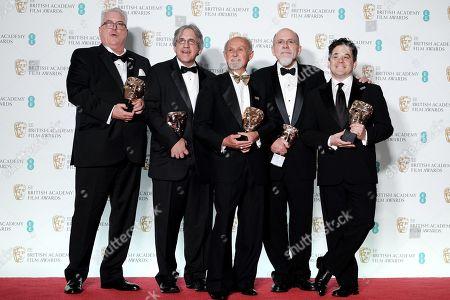 Alex Gibson, Mark Weingarten, Gregg Landaker, Richard King and Gary A. Rizzo ?Dunkirk? wins Best Sound
