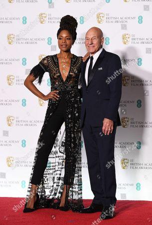 Patrick Stewart and Naomi Harris