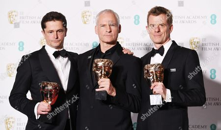 Stock Photo of Pete Czernin, Martin McDonagh and Grahm Broadbent