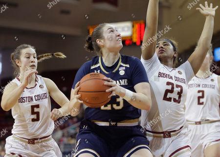 Editorial image of Notre Dame College Basketball, Boston, USA - 18 Feb 2018