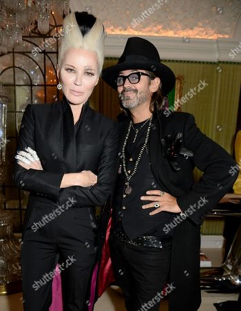 Daphne Guinness (L) with guest
