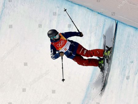Devin Logan, of the United States, runs the course during the women's halfpipe qualifying at Phoenix Snow Park at the 2018 Winter Olympics in Pyeongchang, South Korea