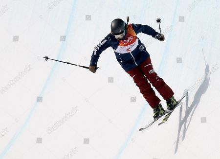 Devin Logan of the USA in action during the Women's Freestyle Skiing Ski Halfpipe qualification at the Bokwang Phoenix Park during the PyeongChang 2018 Olympic Games, South Korea, 19 February 2018.