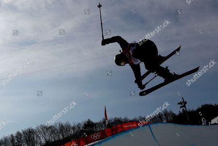 Stock Image of Devin Logan of the USA in action during the Women's Freestyle Skiing Ski Halfpipe qualification at the Bokwang Phoenix Park during the PyeongChang 2018 Olympic Games, South Korea, 19 February 2018.
