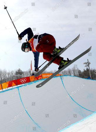 Editorial photo of Freestyle Skiing - PyeongChang 2018 Olympic Games, Bongpyeong-Myeon, Korea - 19 Feb 2018