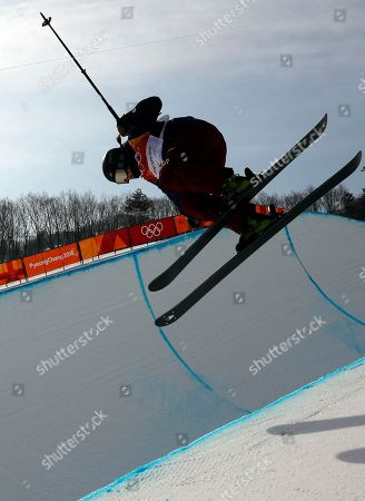 Stock Picture of Devin Logan of the USA in action during the Women's Freestyle Skiing Ski Halfpipe qualification at the Bokwang Phoenix Park during the PyeongChang 2018 Olympic Games, South Korea, 19 February 2018.