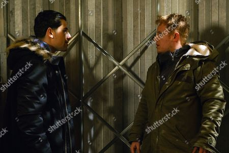 Ep 9388 Friday 23rd February 2018 - 2nd Ep Josh Tucker, as played by Ryan Cartwright, and David Platt, as played by Jack P Shepherd, take Lee, as played by Richard Crehan,to a garage where they beat him up and threaten him. When David leaves, Josh scares Lee with a tyre iron before letting him go.