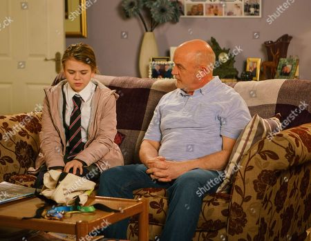 Ep 9392 Wednesday 28th February 2018 - 2nd Ep An upset Summer Spellman, as played by Matilda Freeman, arrives at number 11 and tells Phelan, as played by Connor McIntyre, what is happening at the flat. Phelan promises he will help her sort it out.
