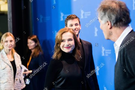 Stock Photo of Isabelle Huppert, Gaspard Ulliel, Benoit Jacquot and Julia Roy