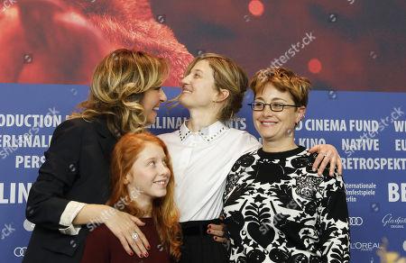 Valeria Golino, Alba Rohrwacher, Sara Casu and director Laura Bispuri