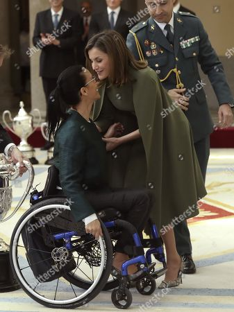 Teresa Perales and Queen Letizia