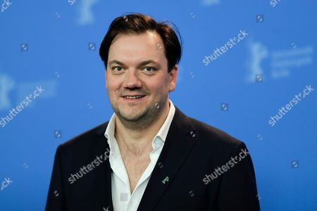 Actor Charly Huebner poses at a photo-call for the film '3 Days in Quiberon' during the 68th edition of the International Film Festival Berlin, Berlinale, in Berlin, Germany