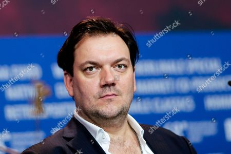 Actor Charly Huebner attends a news conference for the film '3 Days in Quiberon' during the 68th edition of the International Film Festival Berlin, Berlinale, in Berlin, Germany